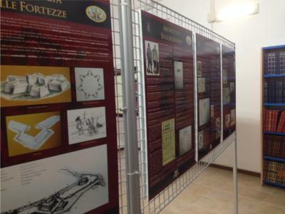"""Pannelli mostra """"La Difesa Costiera dei Reali Presidi di Toscana"""""""