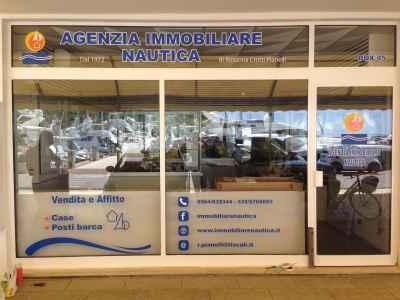 "Vetrofania ""Agenzia Immobiliare Nautica"""