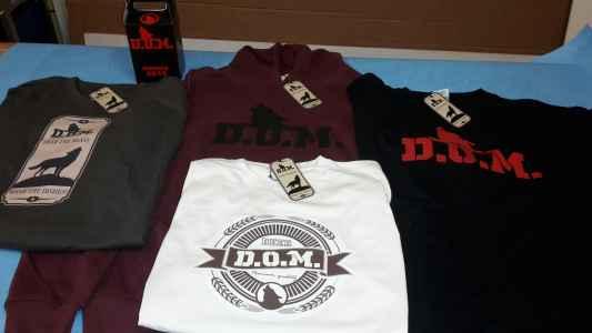 """Abbigliamento personalizzato """"D.O.M."""""""