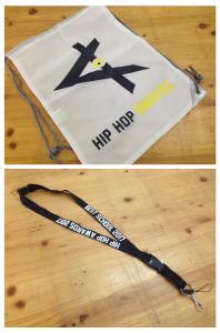 "Sacca e porta badge ""HIP HOP AWARDS"""